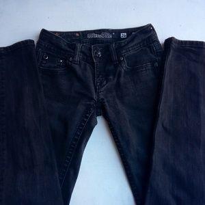 Miss Me Black Wash Skinny Jean 26